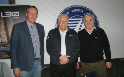 Почетный председатель олимпийского комитета Смирнов В.Г. посетил стенд Федерации на выставке «Московское Боут Шоу»