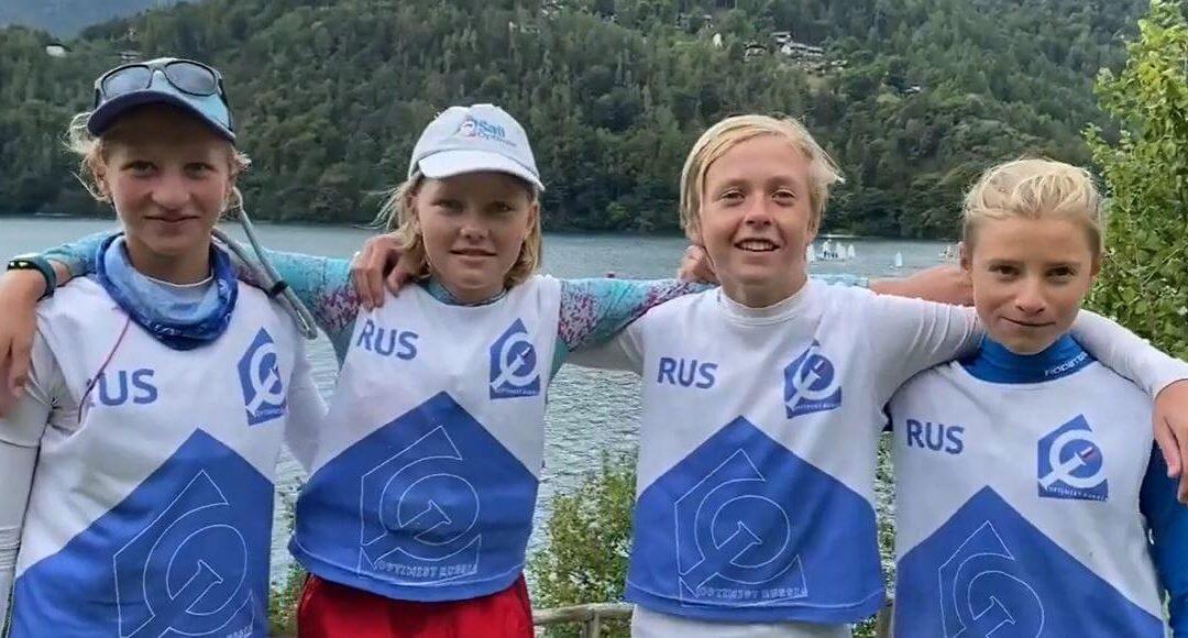 Третье место на Первенстве Европы по командным гонкам в классе «Оптимист»